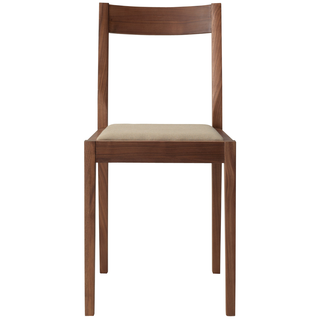 Walnut Wood Chair with Seat Cushion