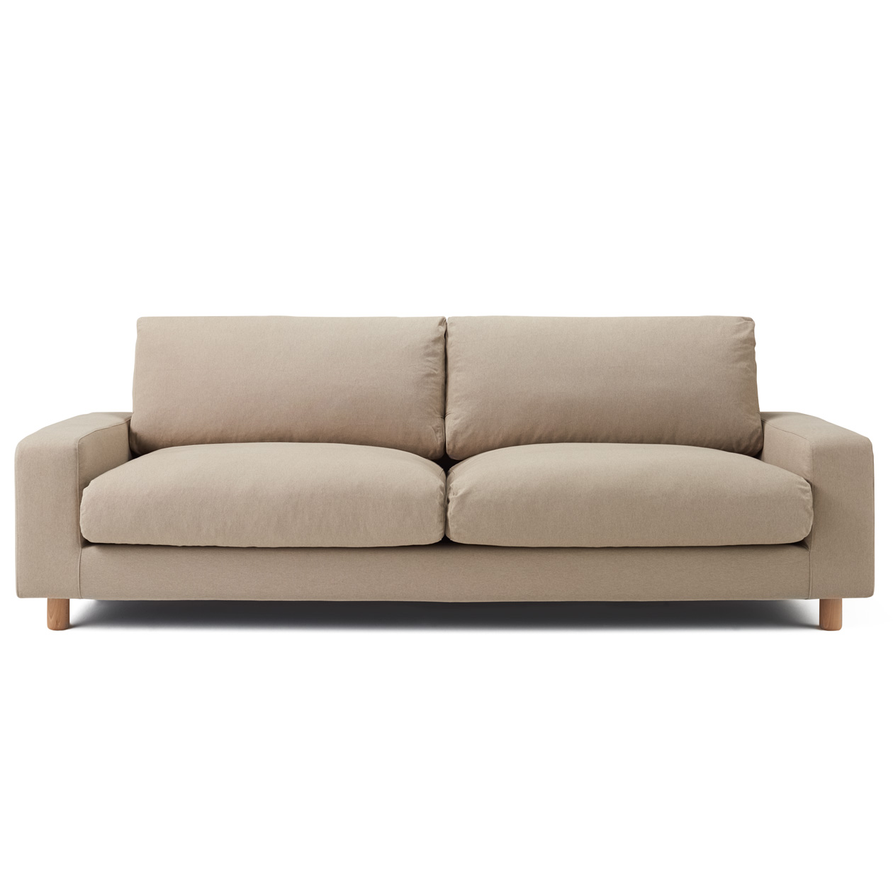 Cotton Cover For Sofa Wide Arm Down 3s Be 3seater Muji
