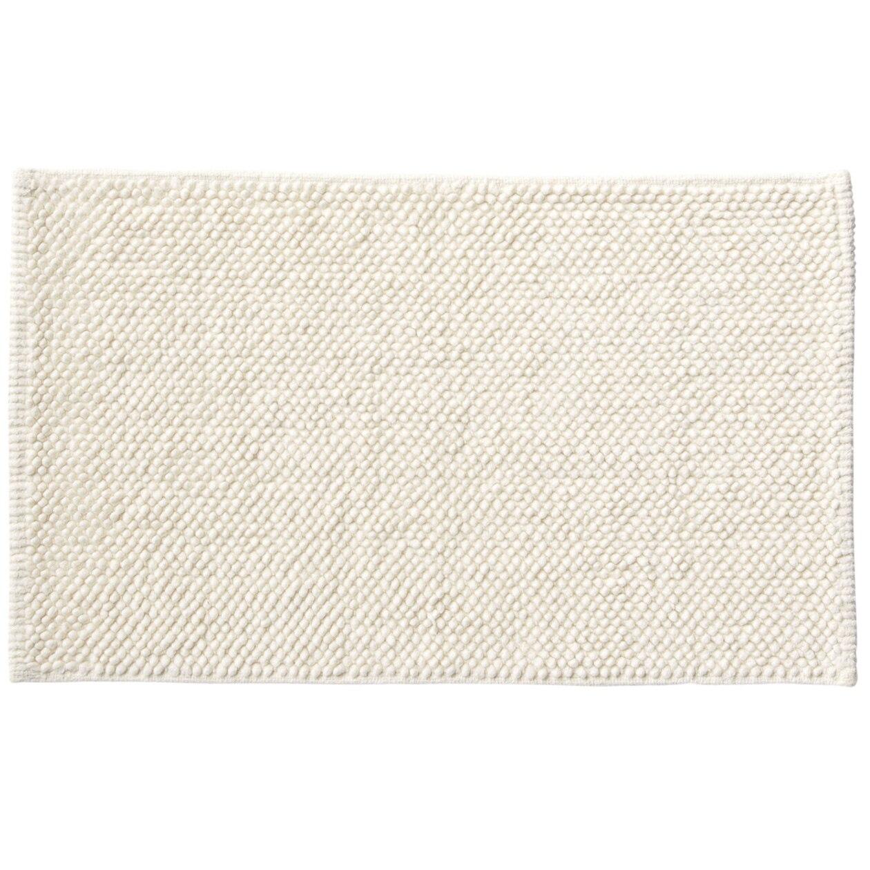 インド綿シェニールバスマット・S/オフ白