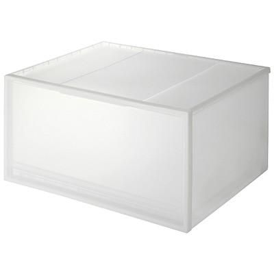 PP衣裝盒/橫式/深型 約寬55×深44.5×高30c | 無印良品