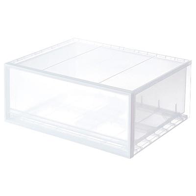 PP衣裝盒/橫式/大 約寬55×深44.5×高24cm | 無印良品