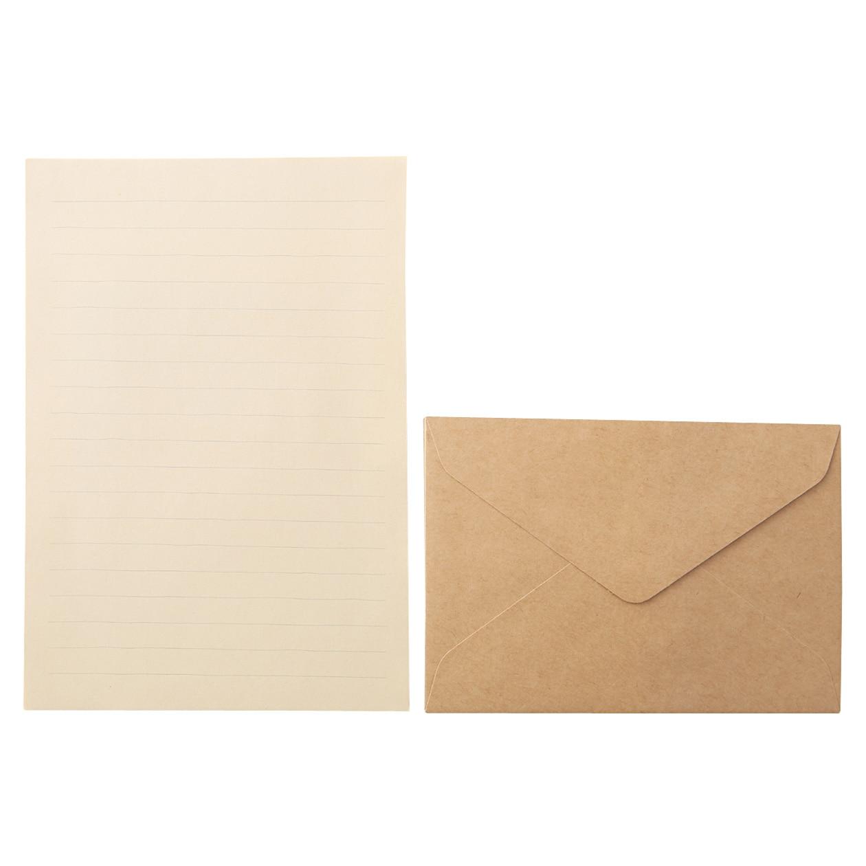 再生紙クラフトレターセット・A5