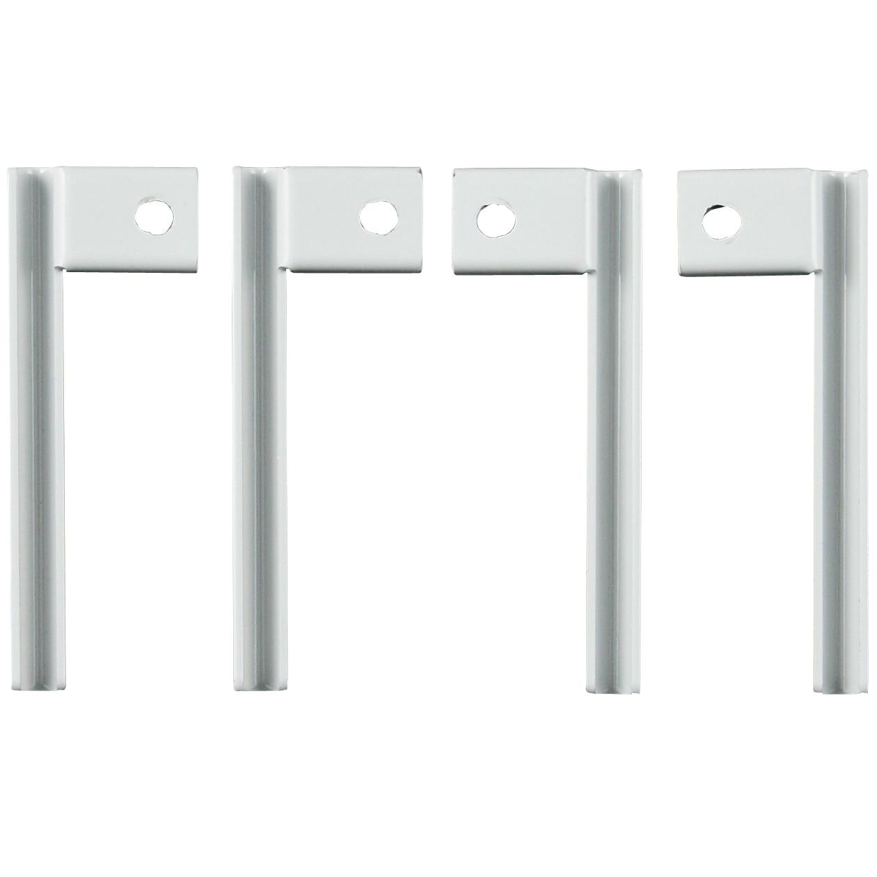 スチールユニットシェルフ用高さ調整金具・グレー