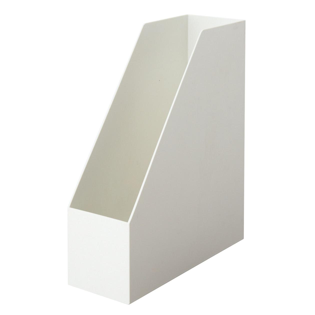 【まとめ買い】ポリプロピレンスタンドファイルボックス ホワイトグレー