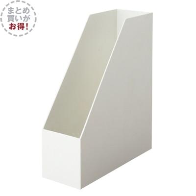 【まとめ買い】ポリプロピレンスタンドファイルボックス・A4用・ホワイトグレー