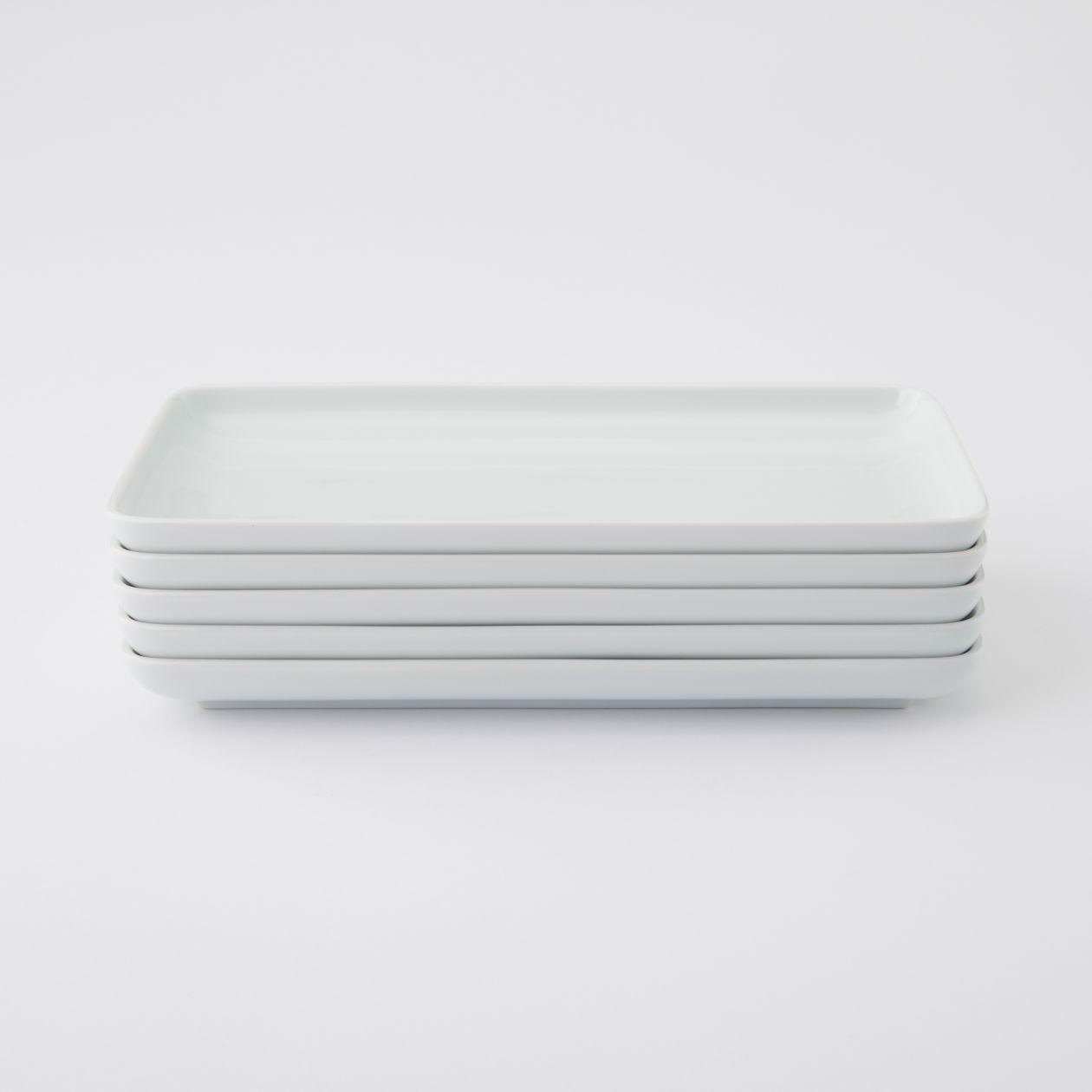 【まとめ買い】白磁角皿