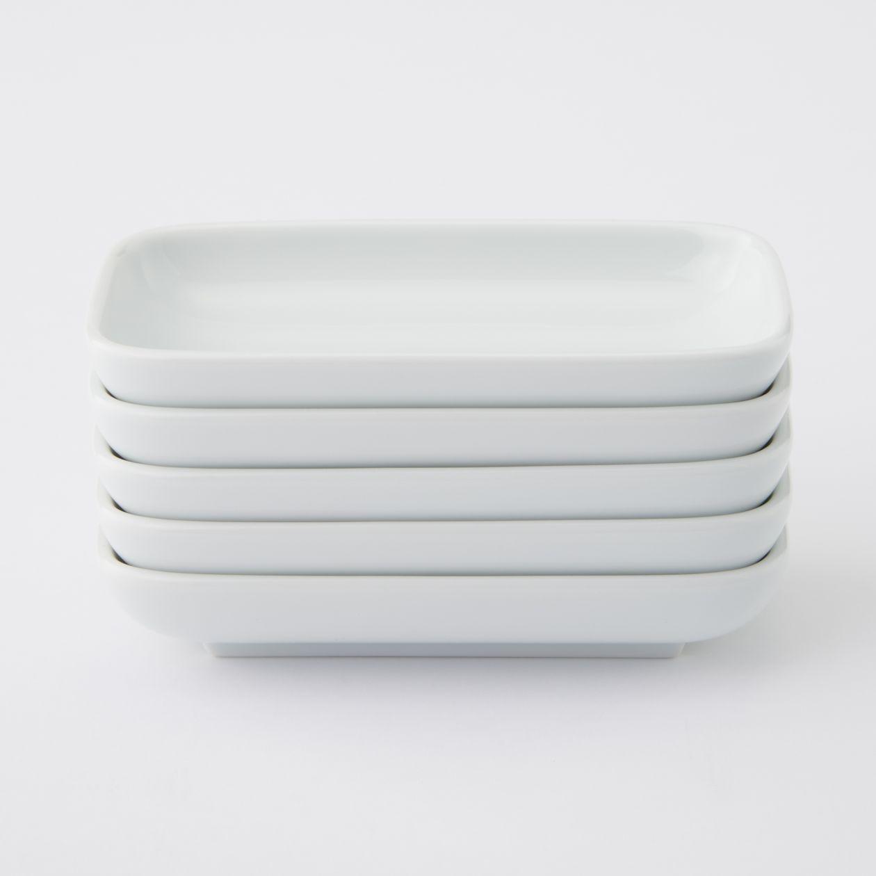 【まとめ買い】白磁長角皿・小
