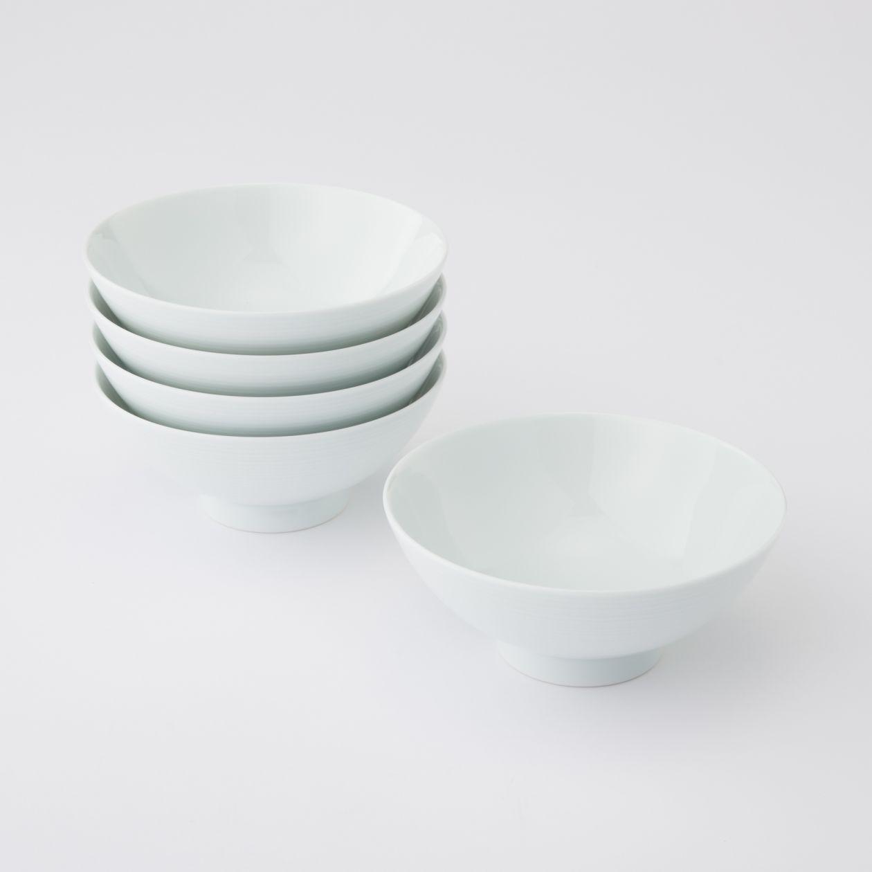 【まとめ買い】白磁めし茶碗・大