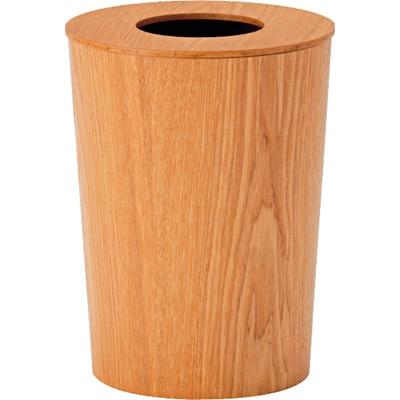 タモ材ごみ箱・ふた付