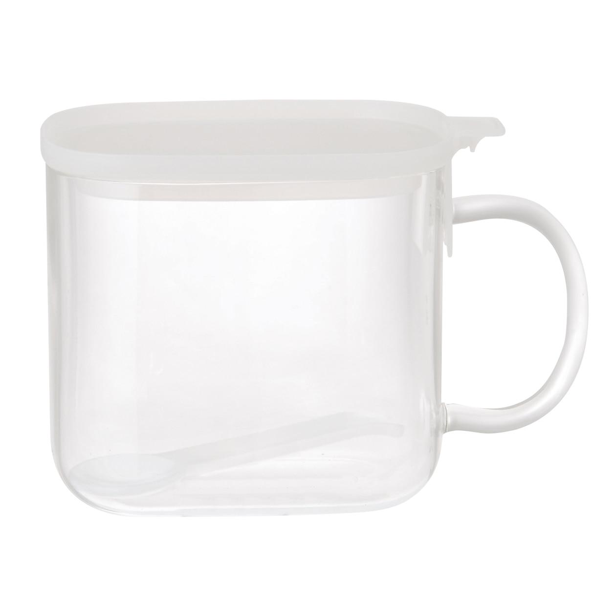 耐熱ガラス調味料保存容器・スプーン付