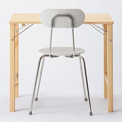パイン材テーブル・折りたたみ式 幅80×奥行50×高さ70cm.