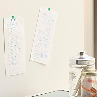 無印良品の短冊型メモチェックリスト・付箋紙のブログ画像