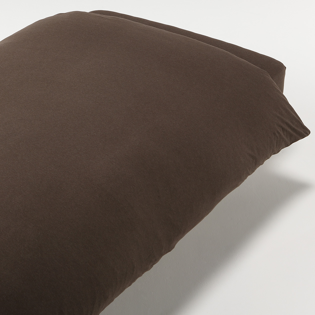Organic Cotton Jersey Duvet Cover K Brown 230 210cm Muji