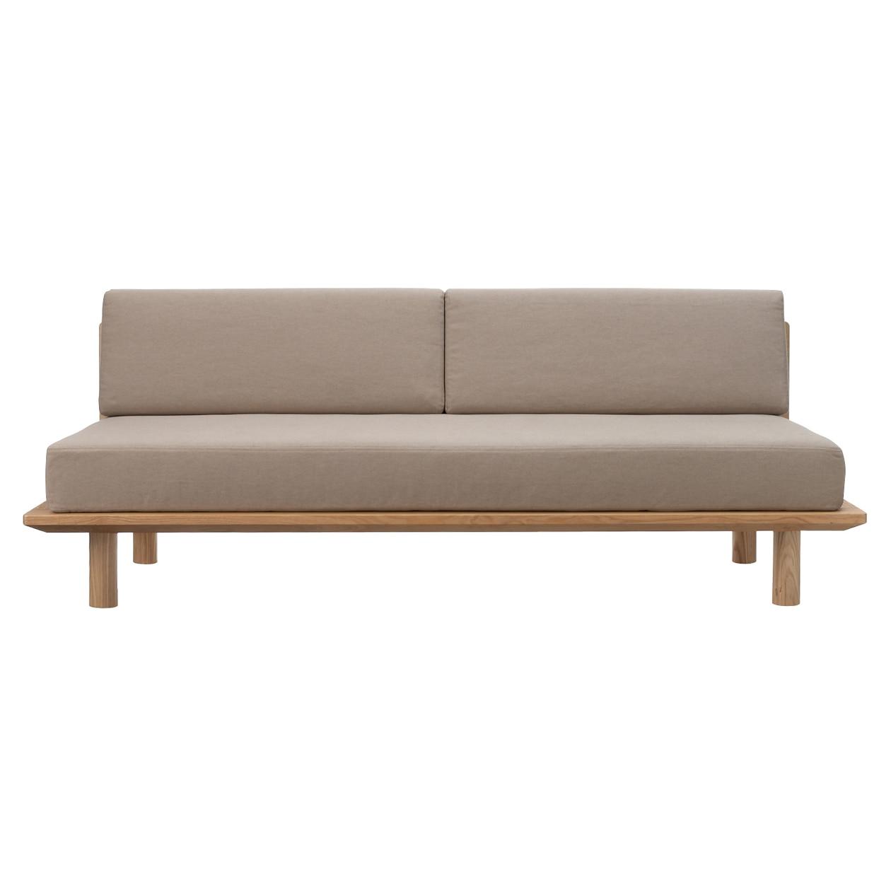 綿平織木製ソファフレーム用カバー/ベージュ