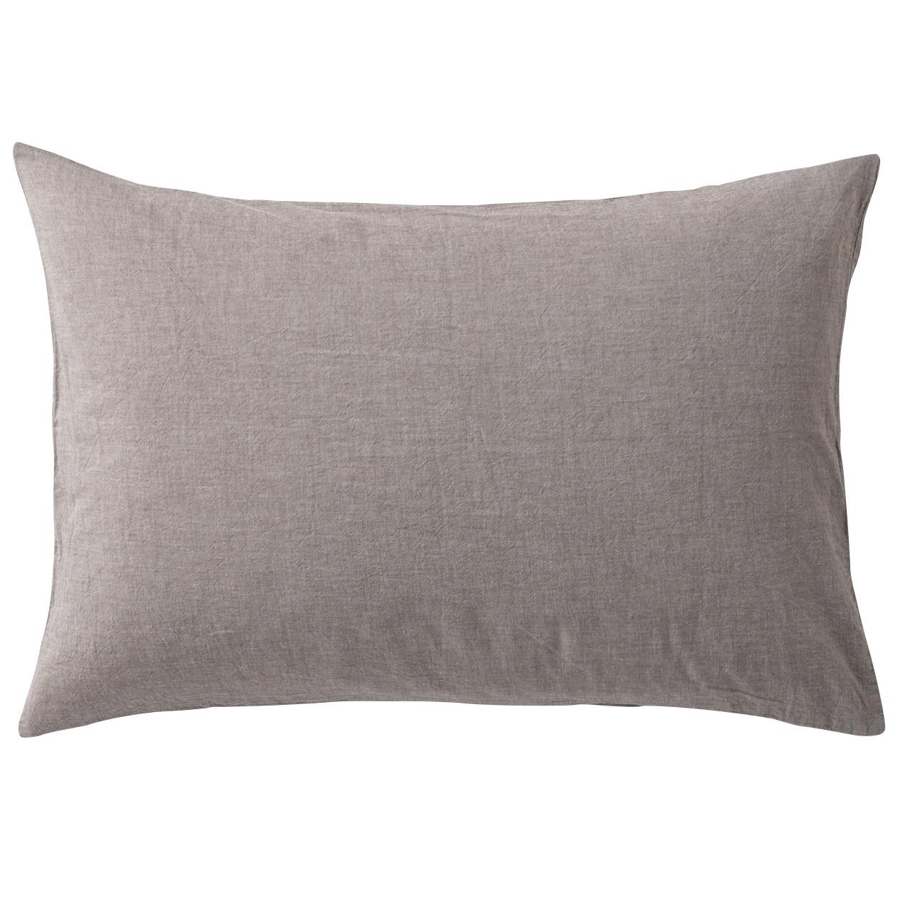 オーガニックコットン洗いざらしまくらカバー/生成 43×100cm用/ブラウン