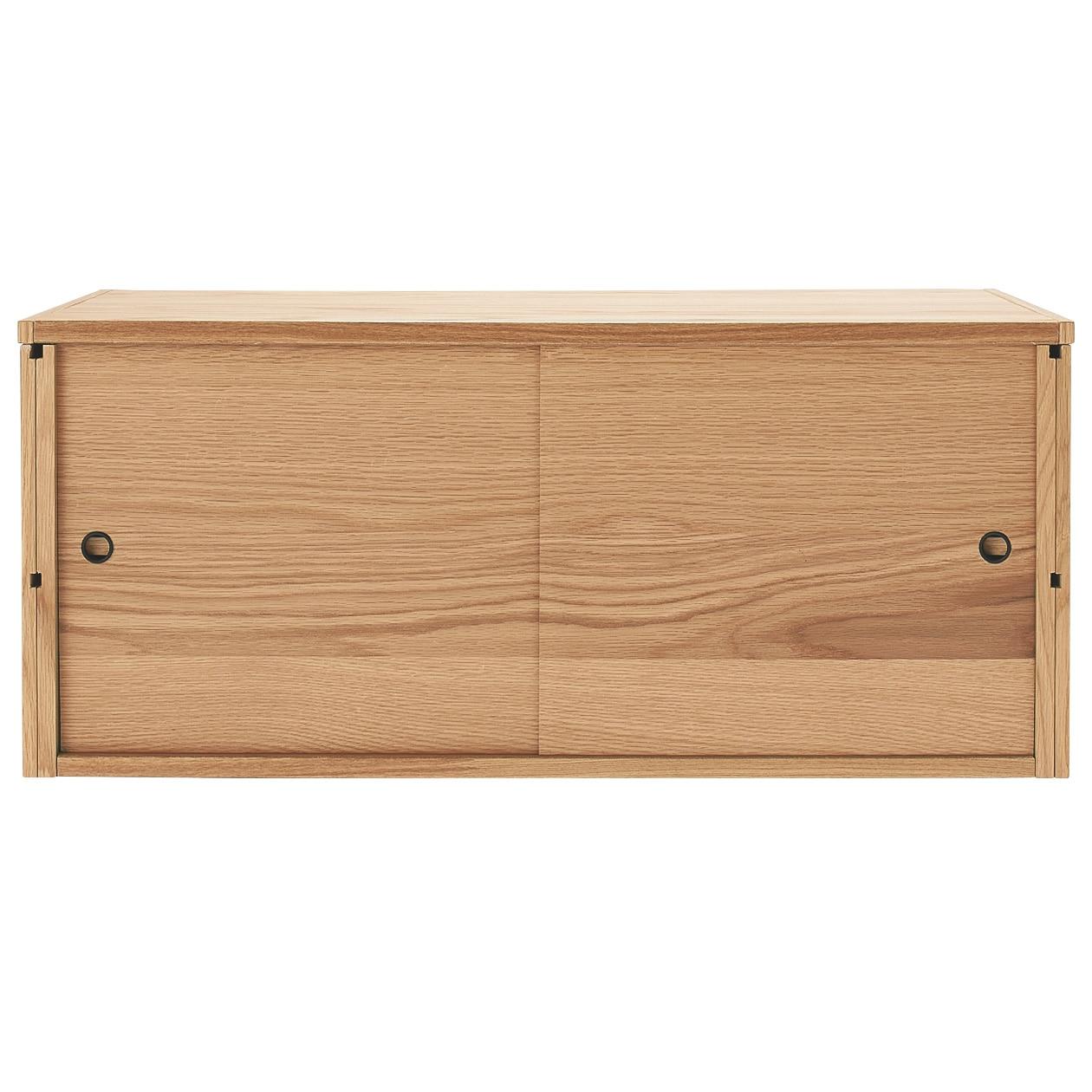 スチールユニットシェルフ用・ボックス・木製引き戸・オーク材