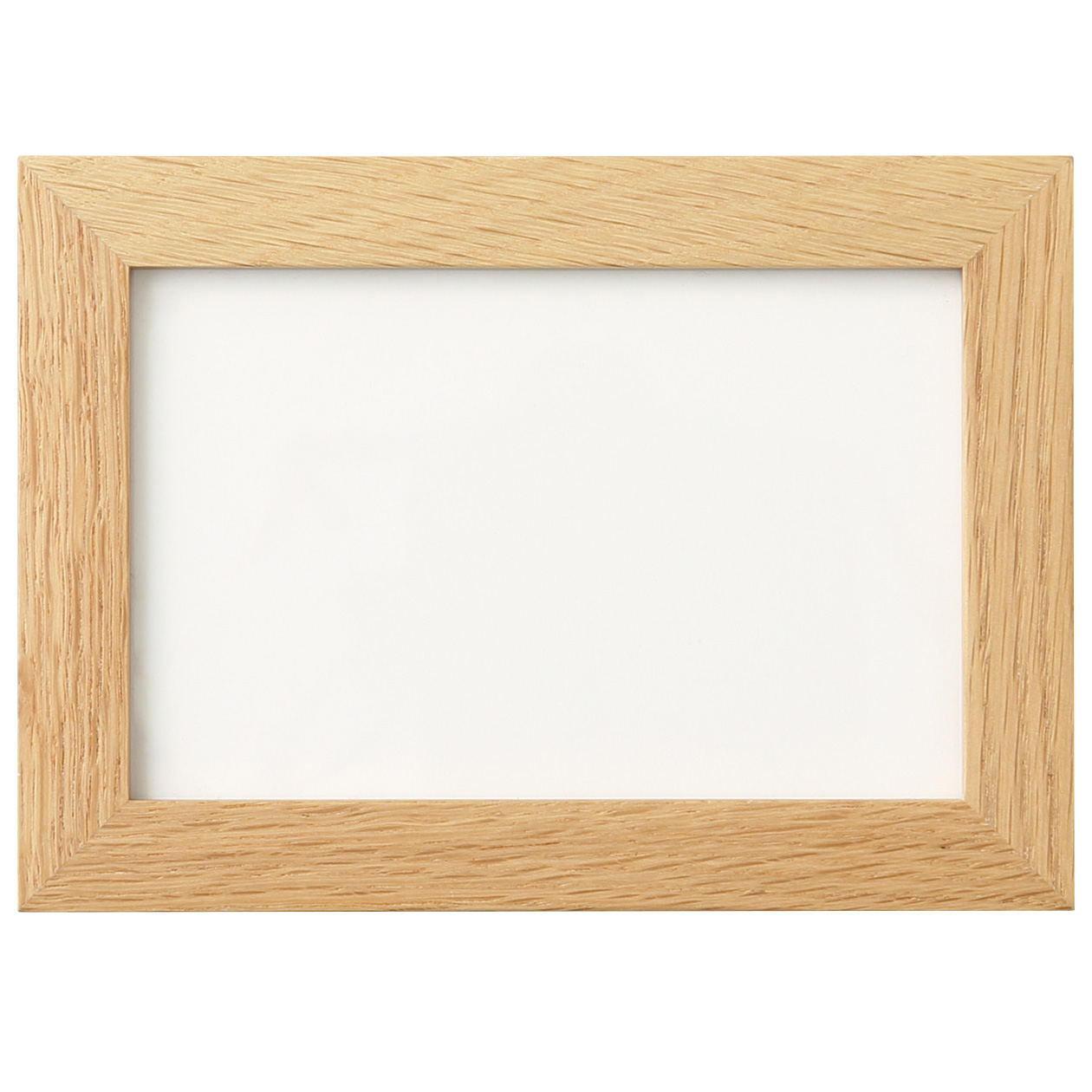 壁に付けられるフレーム・はがきサイズ用・オーク材の写真