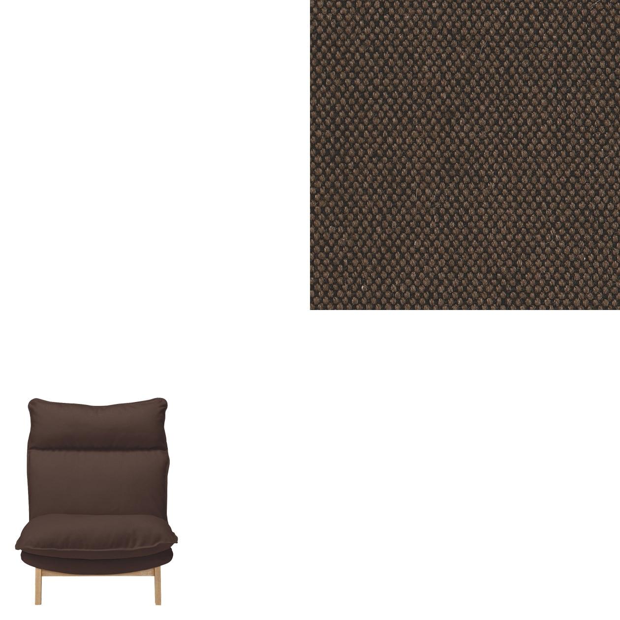 綿平織ハイバックリクライニングソファ・1シーター用カバー/ベージュ ダークブラウン