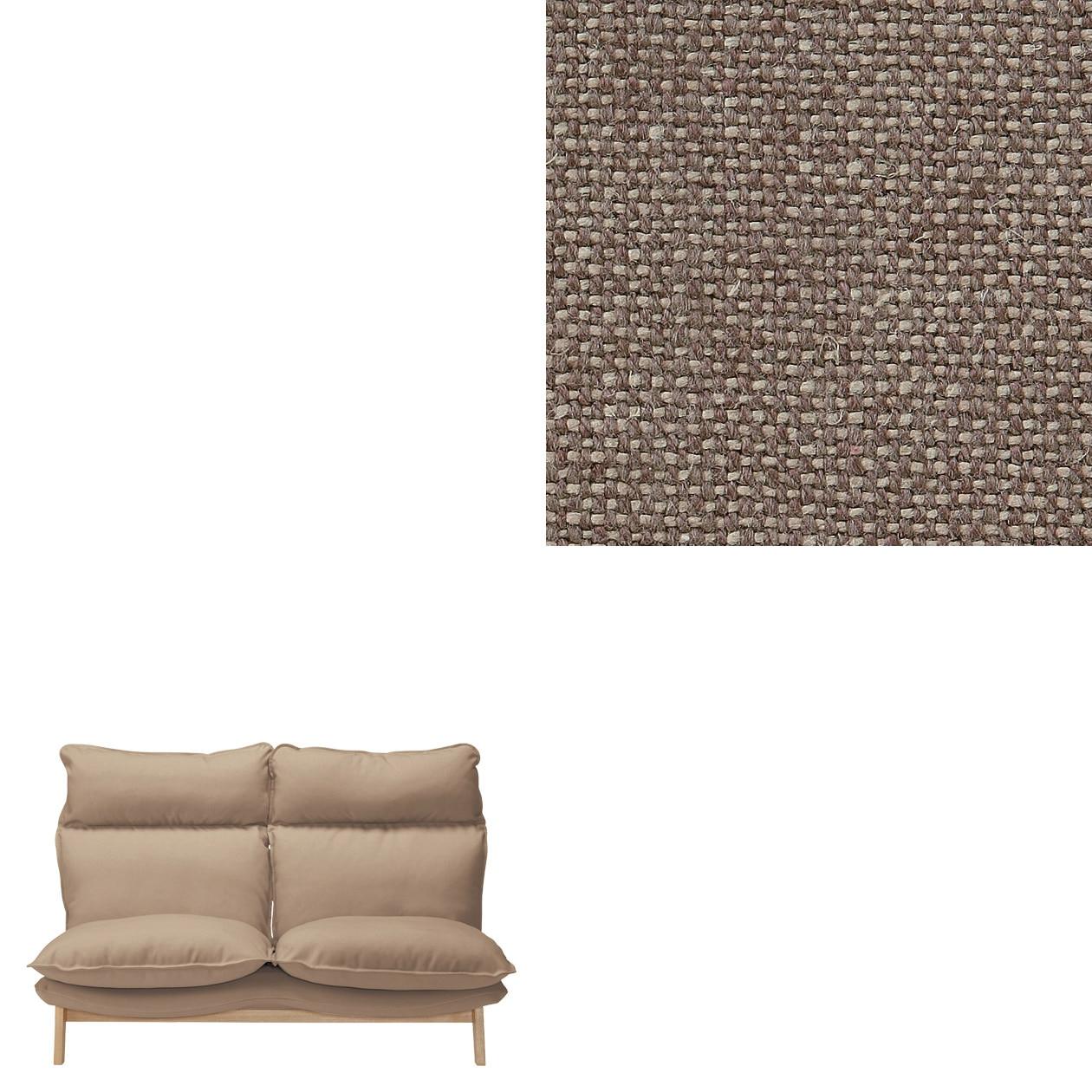 RoomClip商品情報 - 麻綿平織ハイバックリクライニングソファ・2シーター用カバー/ブラウン