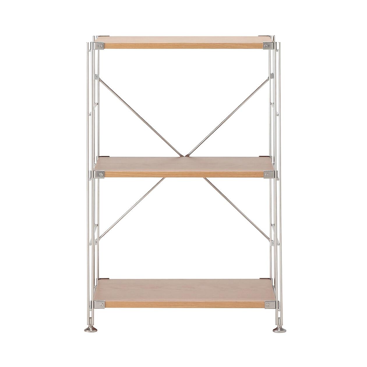 全体的に食器棚を見たとき、棚板が横一線に揃ってたほうがスッキリきれいに、しかも整然と並んでるように見えます。