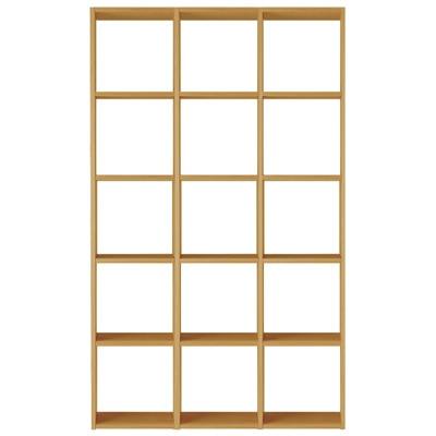 スタッキングシェルフセット・5段×3列・オーク材