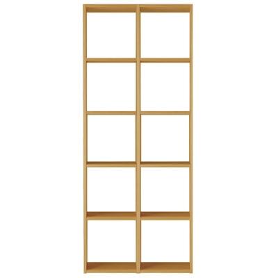 スタッキングシェルフセット・5段×2列・オーク材の写真