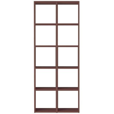 スタッキングシェルフセット・5段×2列・ウォールナット材の写真