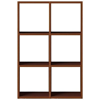 スタッキングシェルフセット・3段×2列・ウォールナット材の写真