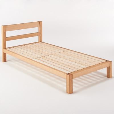 オーク材ベッド/シングル幅100×奥行202×高さ74cm