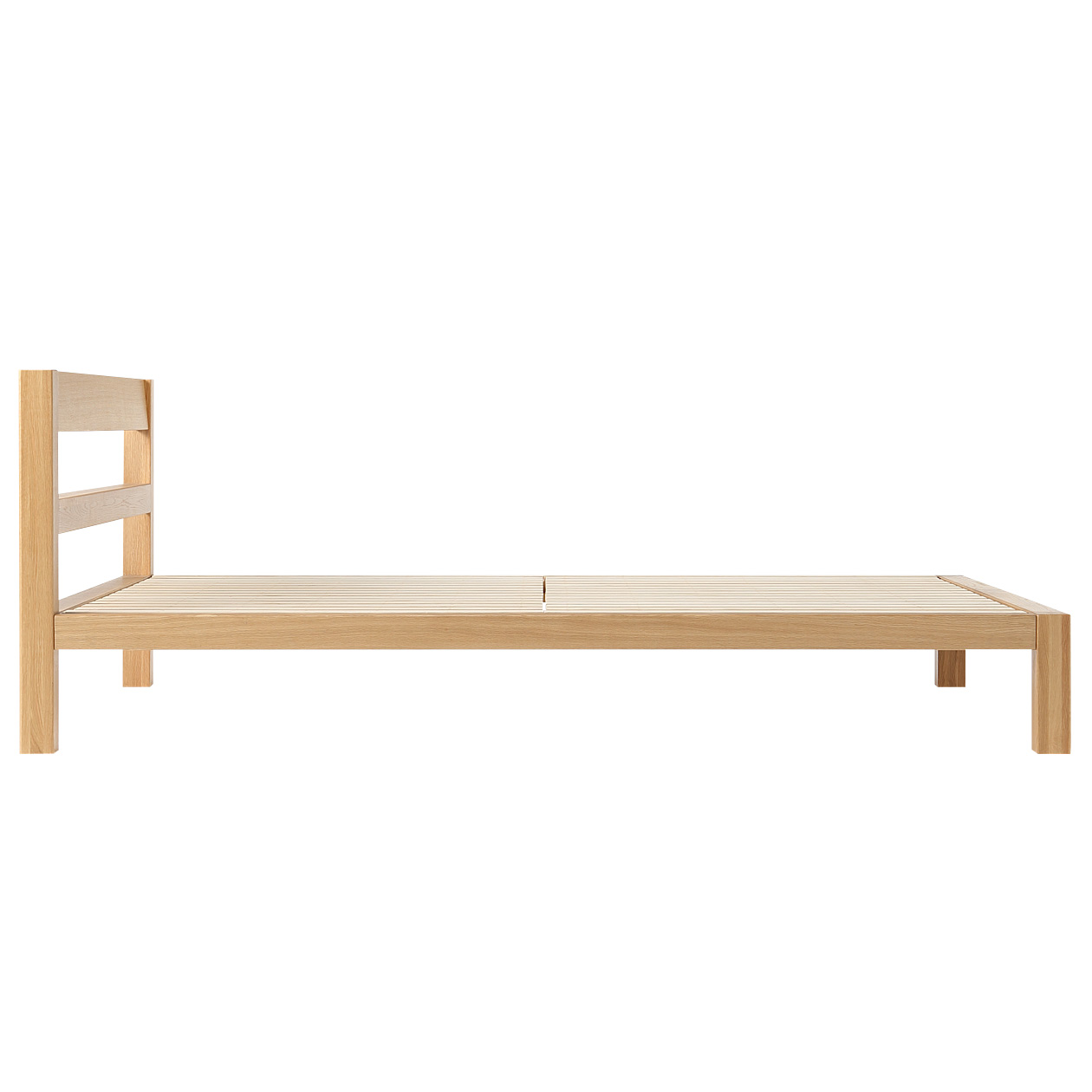 sturdy self assembly oak wood bed frame which has a basic design that one never feels tired of the