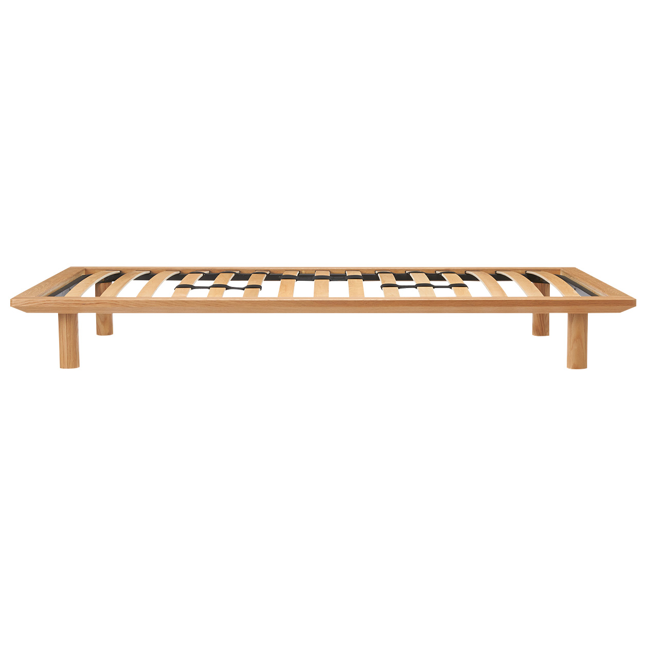hk780000 oak wood bed frame single