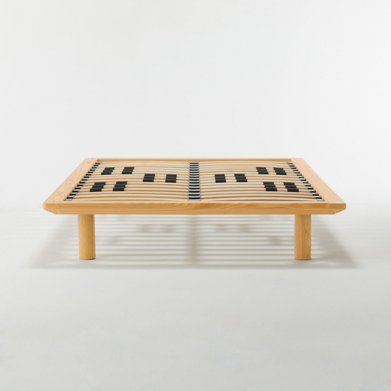 oak wood bed frame nat double muji