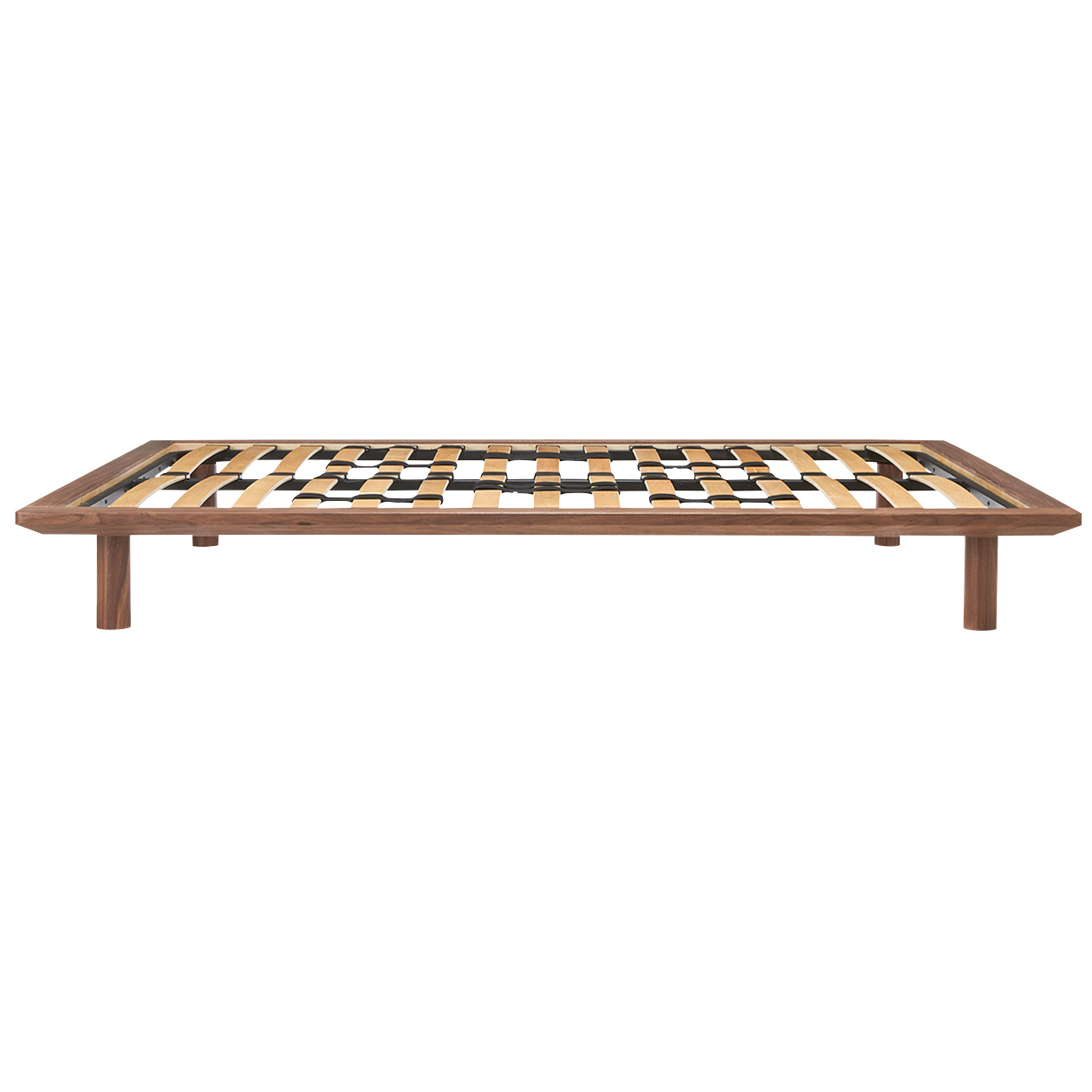 hk250000 walnut wood bed frame brn double