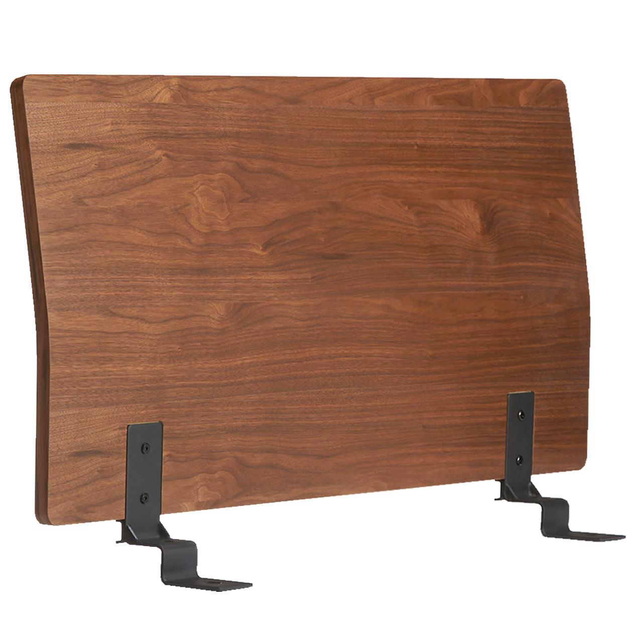 ベッドフレーム用ヘッドボード・シングル・ウォールナット材の写真