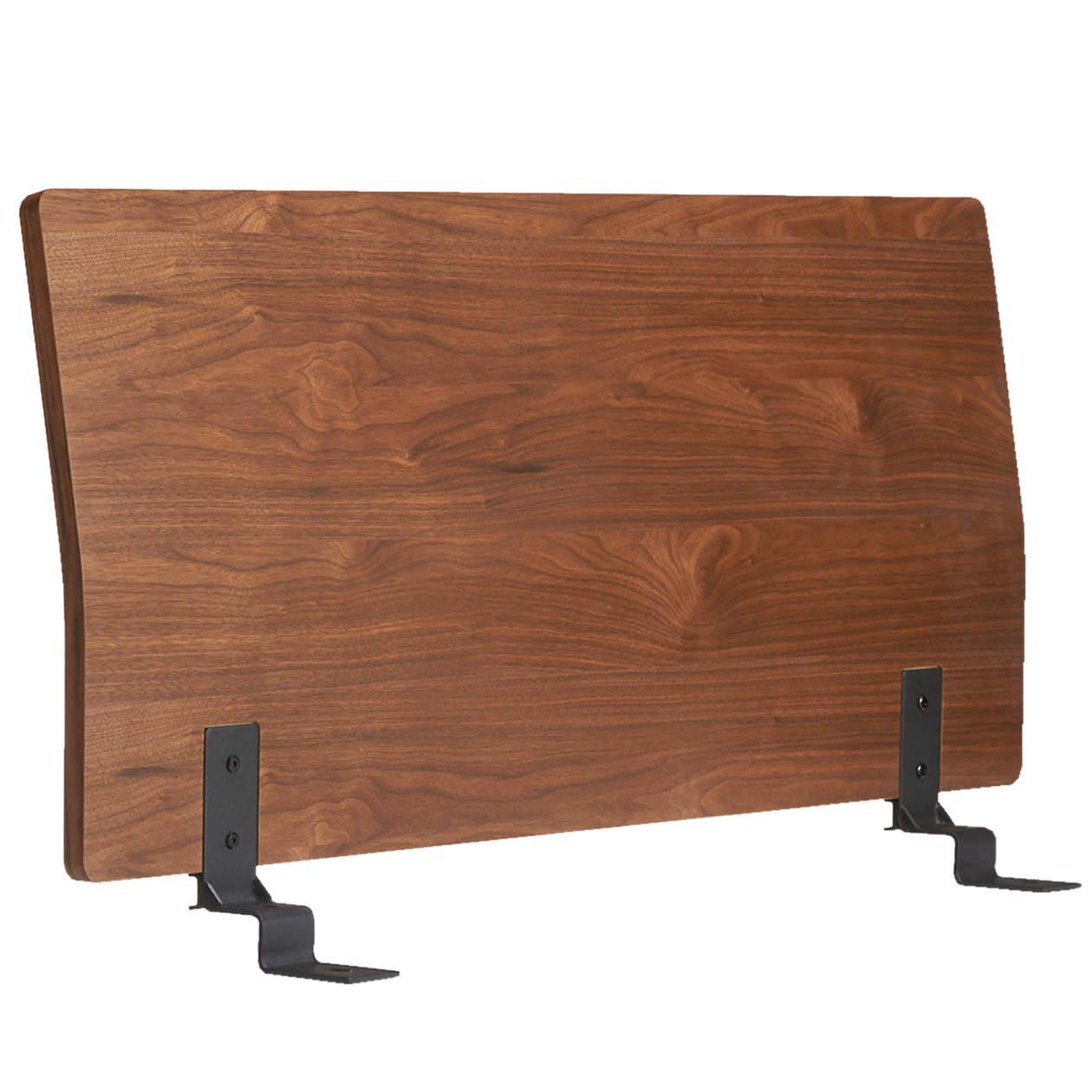 ベッドフレーム用ヘッドボード・セミダブル・ウォールナット材の写真