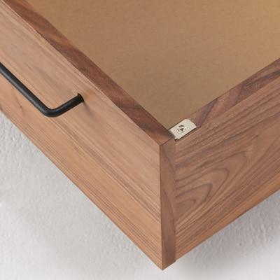 無印良品「タモ材ベッドフレーム・ブラウン・セミダブル|高密度ポケットコイル