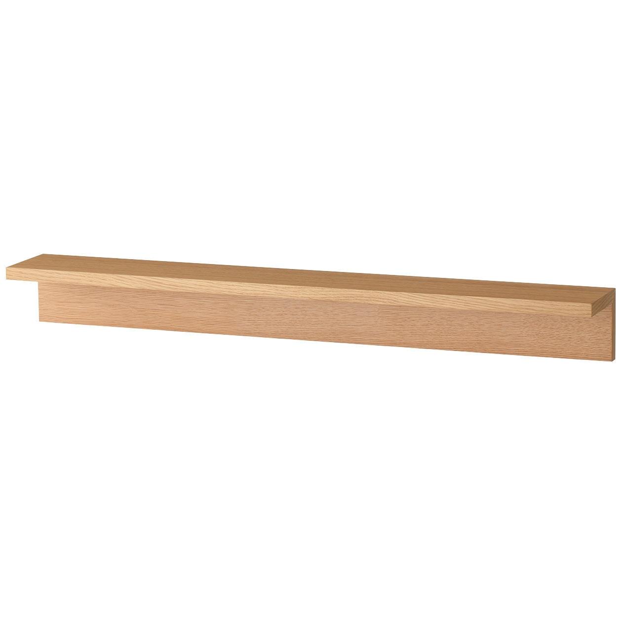 RoomClip商品情報 - 壁に付けられる家具・棚・幅88cm・オーク材
