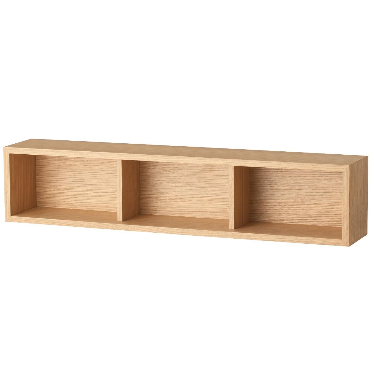 壁に付けられる家具・箱・幅88cm・オーク材