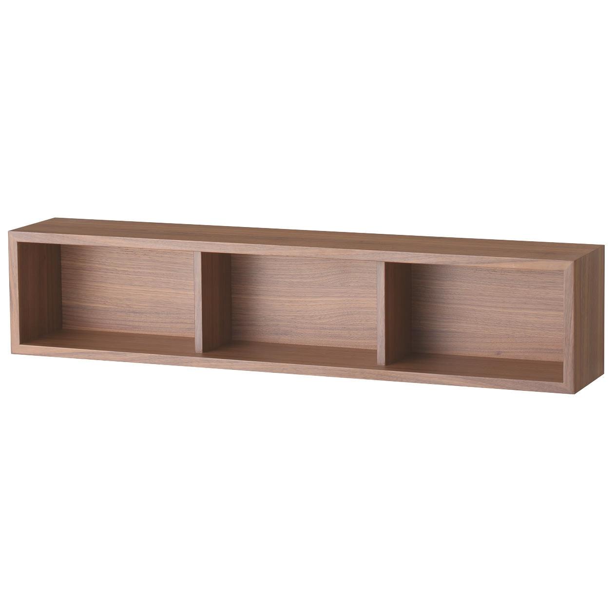壁に付けられる家具・箱・幅88cm・ウォールナット材の写真