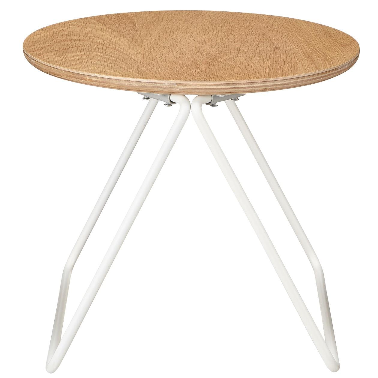 コンパクトサイドテーブル(木製天板)