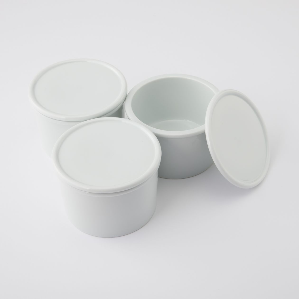 【まとめ買い】白磁保存容器 大
