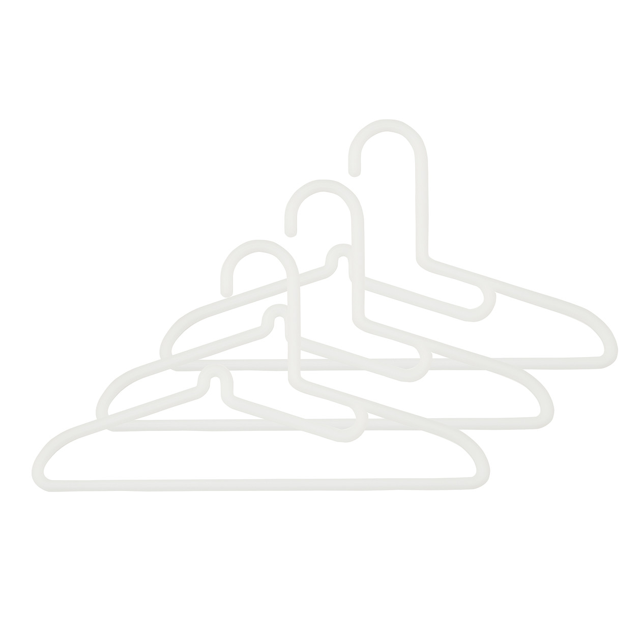 【まとめ買い】ポリプロピレン洗濯用ハンガー・シャツ用・3本組
