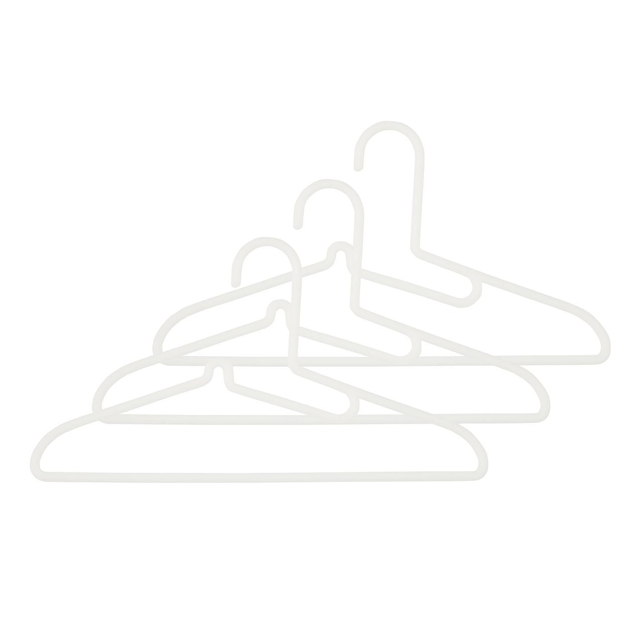 【まとめ買い】ポリプロピレン洗濯用ハンガー・シャツ用・3本組 約幅41cm