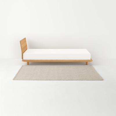 ウールコットン手織ラグ/ベージュ 140×200cm