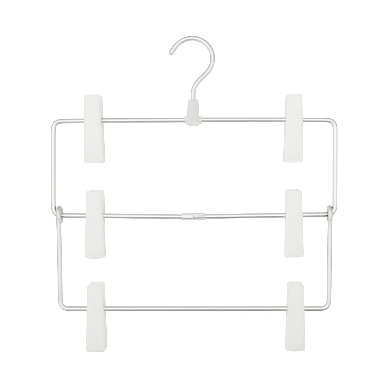 【まとめ買い】アルミハンガー・パンツ/スカート用