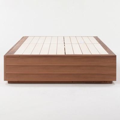 収納ベッド・シングル・オーク材 幅105.5×奥行201×高さ27cm