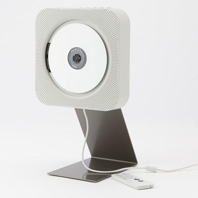 無印良品のスタイリッシュなCDプレーヤー。 壁掛にすることにより換気扇的な佇まい&操作性となる愉快なやつです。