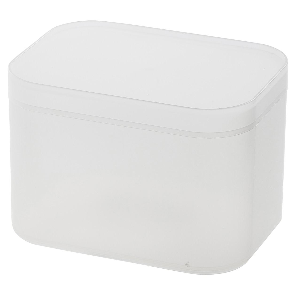 ポリプロピレンメイクボックス・蓋付・小の写真