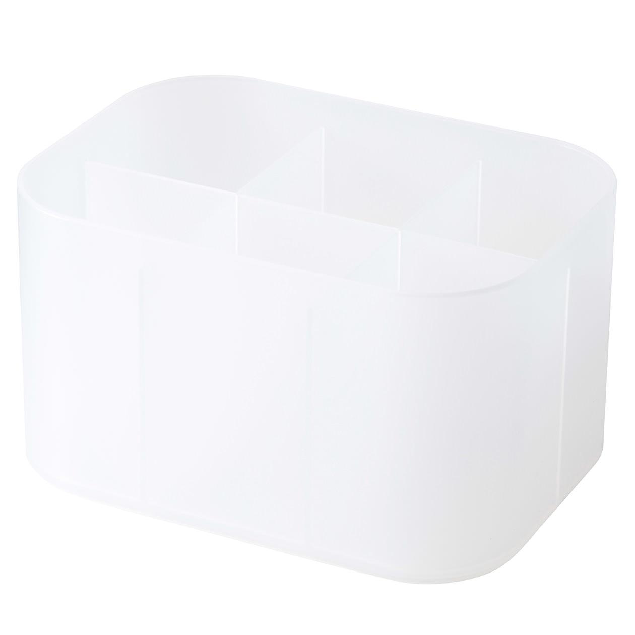 ポリプロピレンメイクボックス・仕切付・1/2横ハーフの写真