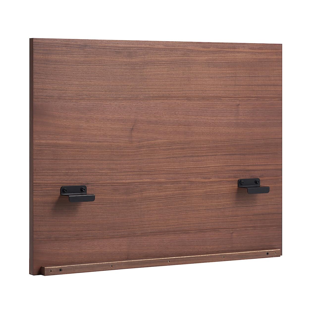 ... 収納ベッド用ヘッドボード・ダブル・ウォールナット材 幅148.5×奥行 ...